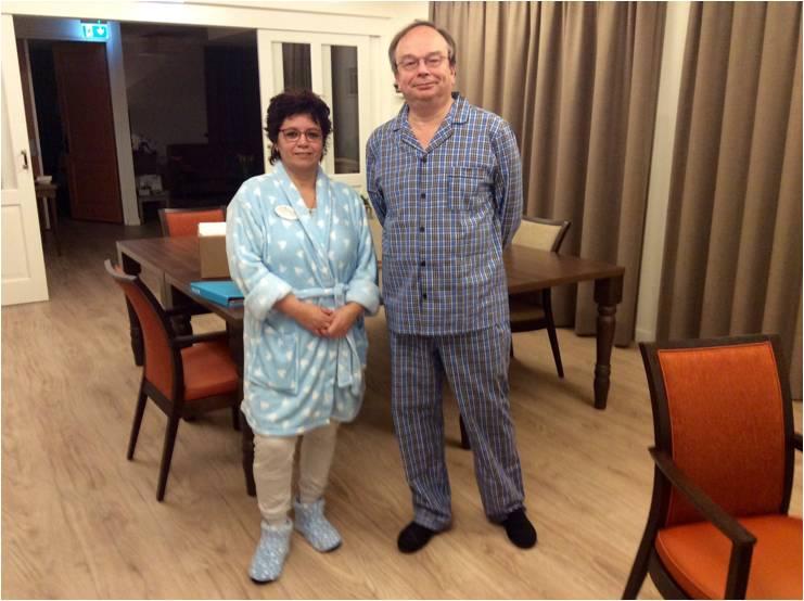 Verzorging in pyjama