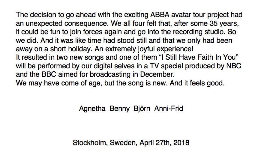 Bericht ABBA