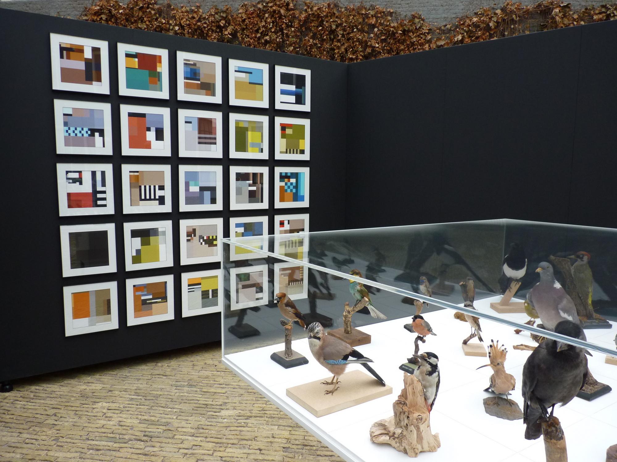 Composities van volgeluniformen in Natuurmuseum Fryslân